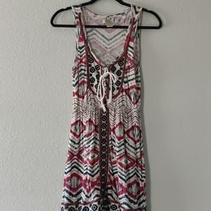 Lucky Brand | Printed Tie-Front Tank Dress / XS